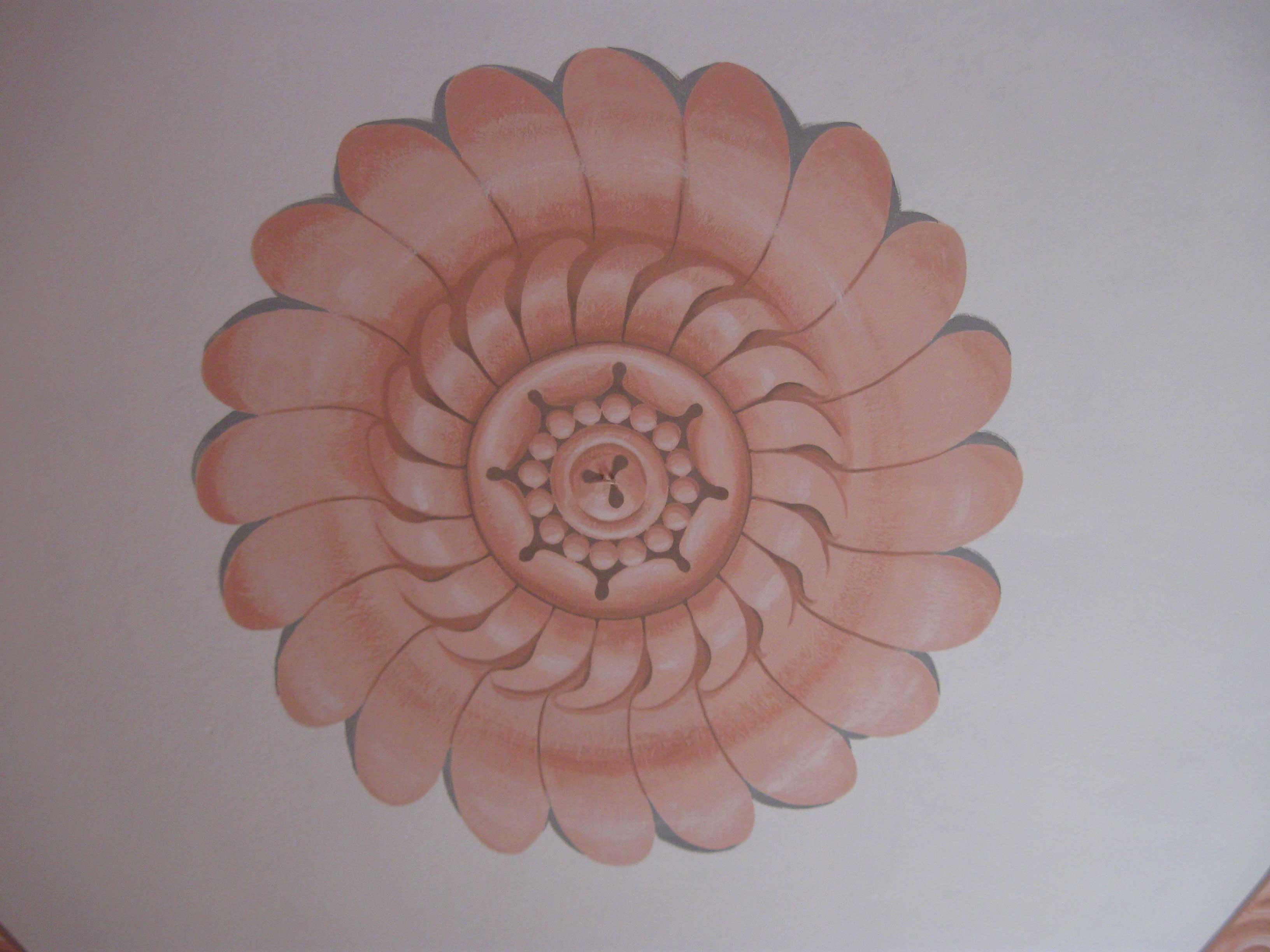 Rosone Soffitto Lampadario: Rosone per soffitto lampadario vintage in plastic...